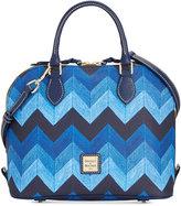 Dooney & Bourke Denim Chevron Zip Zip Satchel, A Macy's Exclusive Style