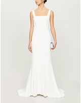 Thumbnail for your product : Whistles Mia square-neck crepe wedding gown