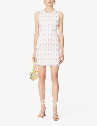 Saks Potts Vision logo-print stretch-jersey mini dress