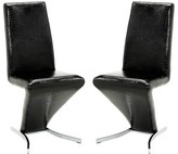 Everly Butz Leather Upholstered Parsons Chair in Black Quinn