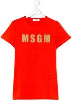 MSGM logo T-shirt - kids - Cotton - 14 yrs