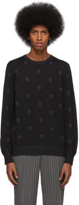 Alexander McQueen Black Wool All Over Skull Sweater