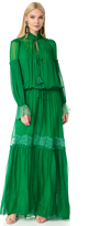 Roberto Cavalli Long Sleeve Maxi Dress