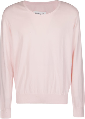 Maison Margiela Pink Cotton-cashmere Blend Jumper