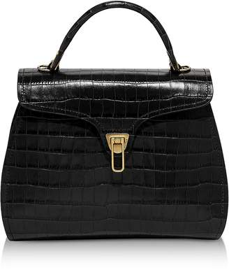 Coccinelle Marvin Croco Medium Satchel Bag