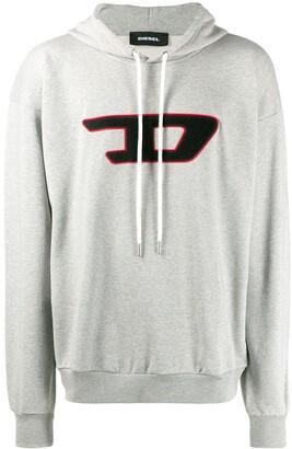Diesel D logo hoodie