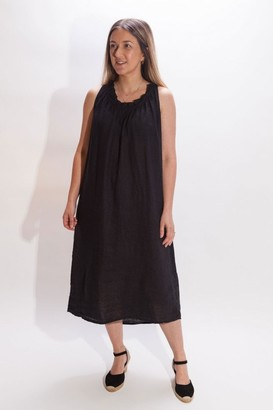 Crossley Ligil Frill Neck Sleeveless Dress In Navy - Small