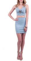 Solemio Sole Mio Blue Crop Top