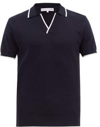 Orlebar Brown Horton Cotton-knit Polo Shirt - Mens - Navy