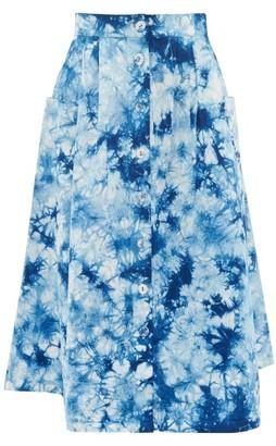Arizona Love Alix Tie-dye Twill Skirt - Blue Print