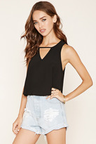 Forever 21 FOREVER 21+ Stretch Knit Cutout Top