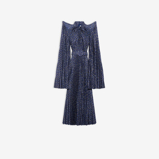 Balenciaga Pagoda Pleated Dress