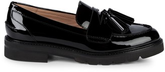 Stuart Weitzman Adrina Tassel Patent Leather Loafers