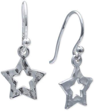 Giani Bernini Star Cut-Out Drop Earrings in Sterling Silver