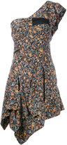 Isabel Marant one shoulder foliage print dress