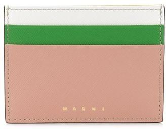 Marni Saffiano leather card case