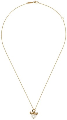 Stephen Webster 18kt yellow gold Taurus Astro Ball pearl pendant necklace