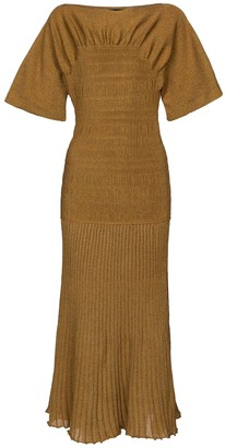 Proenza Schouler Smocked knit midi dress