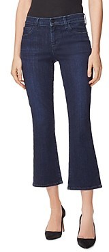 J Brand Selena Mid Rise Cropped Bootcut Jeans in Reality