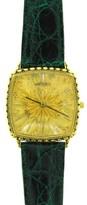 Buccellati 18K Yellow Gold & Crocodile Strap Watch Circa 1990s