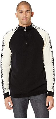 Dale of Norway Geilo Masculine Sweater (F-Black/Off-White) Men's Sweater