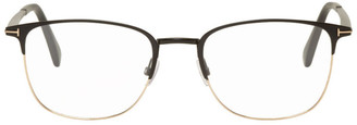 Tom Ford Black and Gold Square Glasses