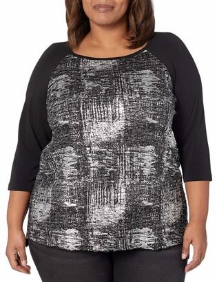 Karen Kane Women's Plus Size 3/4 Sleeve HI-LO TOP