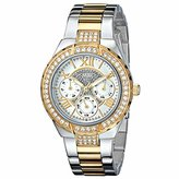 "GUESS Women's U0111L5 ""Sparkling Hi-Energy"" Silver- And Gold-Tone Watch"