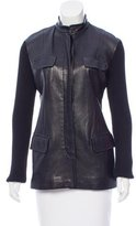 Donna Karan Wool Leather-Accented Jacket