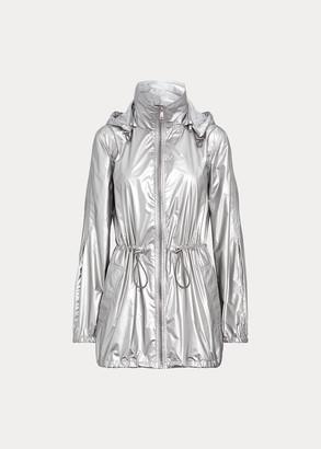 Ralph Lauren Metallic Taffeta Hooded Jacket