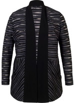 Chesca Holey Stripe Jersey Jacket with Contrast Trim