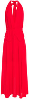Thumbnail for your product : Roland Mouret Wool-crepe Halterneck Maxi Dress