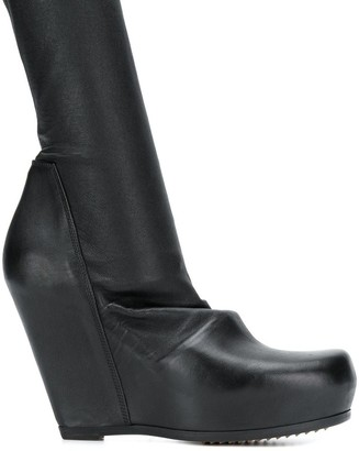 Rick Owens modern slip-on ankle boot