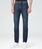 Reiss Reiss Tenda - Slim-fit Washed Jeans In Blue