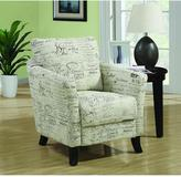 Monarch Specialties White Fabric Arm Chair