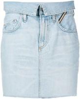 Atelier Jean denim mini skirt