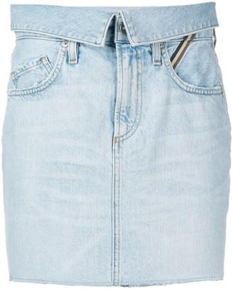 Jean Atelier Denim Mini Skirt