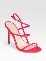 Jean-Michel Cazabat Omayra Fluo Chic Patent Leather Sandals