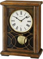 Seiko Mantel Clock With Pendulum And 12 Hi Fi Melodies Brown Qxw236blh