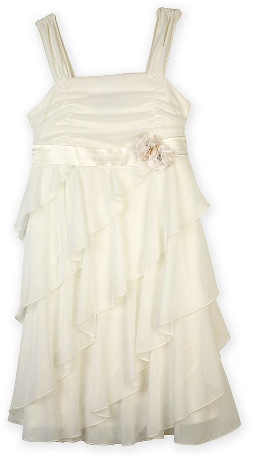 Amy Byer BCX Girls Dress, Girls Tiered Rosette Dress