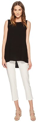 Eileen Fisher Slim Ankle Pants in Washable Stretch Crepe