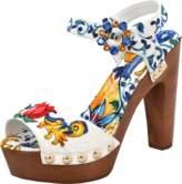 Dolce & Gabbana Printed Brocade Clog