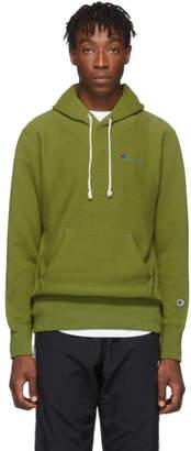 Champion Reverse Weave Green Small Script Hoodie