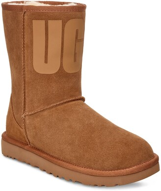 UGG Classic Short Rubber Logo Boot