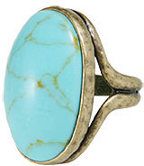 Lucky Brand Set Stone Turquoise Ring