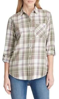 Lauren Ralph Lauren Petite Relaxed-Fit Cotton Twill Button-Down Shirt