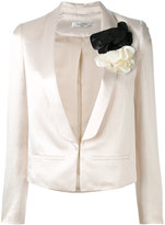 Lanvin fitted embroidered blazer - women - Polyamide/Polyester/Acetate/glass - 36