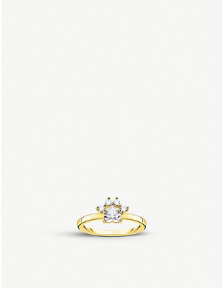 Thomas Sabo Magic Cat gold-plated sterling silver and zirconia ring