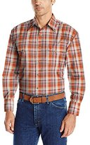 Wrangler Men's George Strait Two Pocket Long Sleeve Snap Woven Shirt