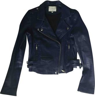 IRO Fall Winter 2019 Blue Leather Jackets